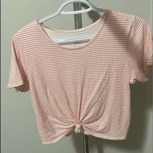 pac sun pink stripped t shirt